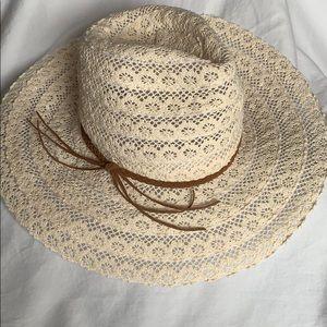 Maurices Cream Wide Brim Sun/Day Hat